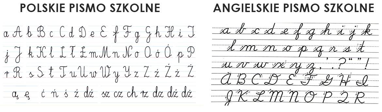 angielskie pismo szkolne